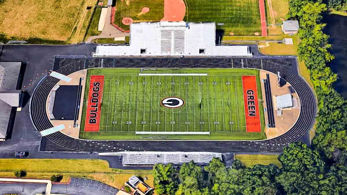 Image result for Bulldog Memorial stadium uniontown